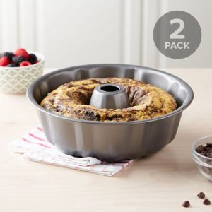 Fluted Tube Cake Pan Non-Stick – Set of 2