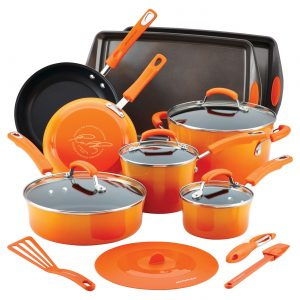 Rachael Ray Hard Enamel Nonstick 16-pc. Cookware Set