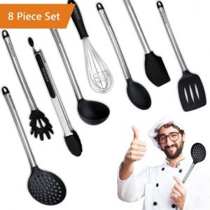 Premium Kitchen Utensils Italian Style, 8 Piece