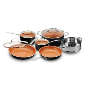 10-Piece Nonstick Copper Chef's Frying Pan & Cookware Set