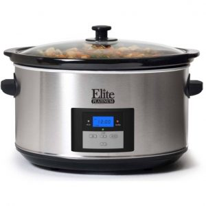 Elite Platinum MST-900D Maxi-Matic 8.5 Quart Digital Programmable Slow Cooker