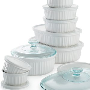 French White 18 Piece Bakeware Set