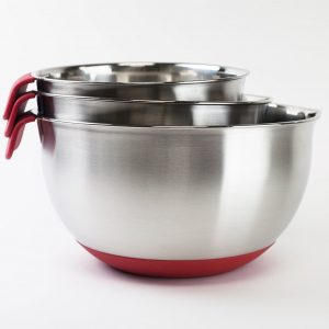 HUJI 3 Piece Stainless Steel Mixing Bowls