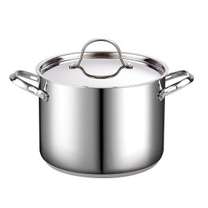 8-Quart Classic Stainless Steel Stockpot with Lid